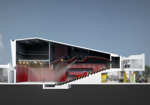 The Shannon Venue is a 2,600m2 multi-disciplinary arts centre proposed for Shannon Town centre. It will cater for the local community, business s and tourism sector.  The building programme includes a 350 seat capacity theatre, with additional performance, rehearsal and community spaces.